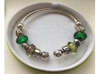 Chamilia Bangle with 8 Charms and 2 Locks