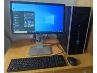 HP Windows 10 Pro PC Computer Complete System! Intel Core i5 3.2GHz/WIFI/4GB RAM/500GB/Monitor