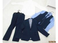 Next signature 5 piece boys suits age 9, navy