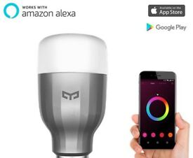 Xiaomi Yeelight LED Smart Bulb iOS, Android, Alexa Echo control 16.7m colours!