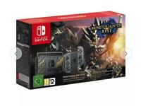 Nintendo Switch Console Monster Hunter Rise Limited Edition - Grey *New & Sealed*