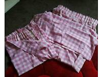 Pink curtains - collection only Maybank