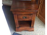Single cabinet table storage bedside unit drawer
