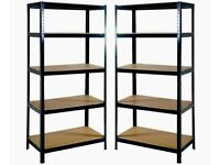 5 Tier Garage Shelves 2x Shelving Unit Racking Boltless Storage Shelf