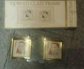 curve glass twin photo frame