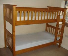 Bunk bed for sale solid wood from Marks & Spencer good condition v solid