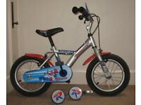 Halford's Apollo Boys Bike 14 inch wheels with stabilizers