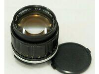 Tomioka Kogaku Auto Tominon 55mm f1.2 M42 Prime Lens - Super Rare