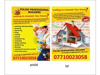 Polish team plasterers,painters, tilers,roofers,fitters,laminate flooring best prices