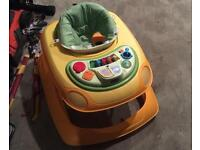 Chicco baby walker music tray