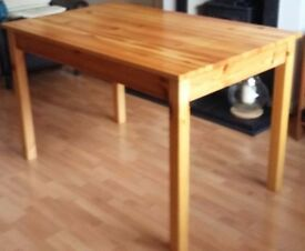 As New Solid Pine Table 144 x 75 cms