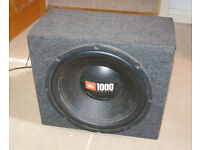 "10"" Vibe CBR Active Subwoofer & 12"" JBL Sub with Kenwood Amp"