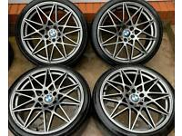 BMW M3 Competition Pack 20 inch Alloy Wheels 5 x 120 Staggered Style 666m Reps 8.5J 10J F30 3 series