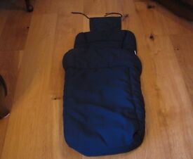 Navy push chair/buggy foot muff never used