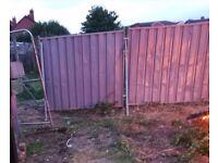 Metal council fencing
