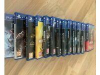 PS4 Games Bundle 13 Games