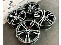 "BRAND NEW 19"" 20"" BMW M5 STYLE ALLOY WHEELS - 5 X 120 - DIAMOND CUT FINISH - Wheel Smart"