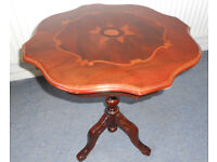 Inlaid Mahogany Wine Table or Lamp Table