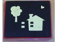 Red Sizzix Used Die - Home, Sweet Home (without plastic clear case)
