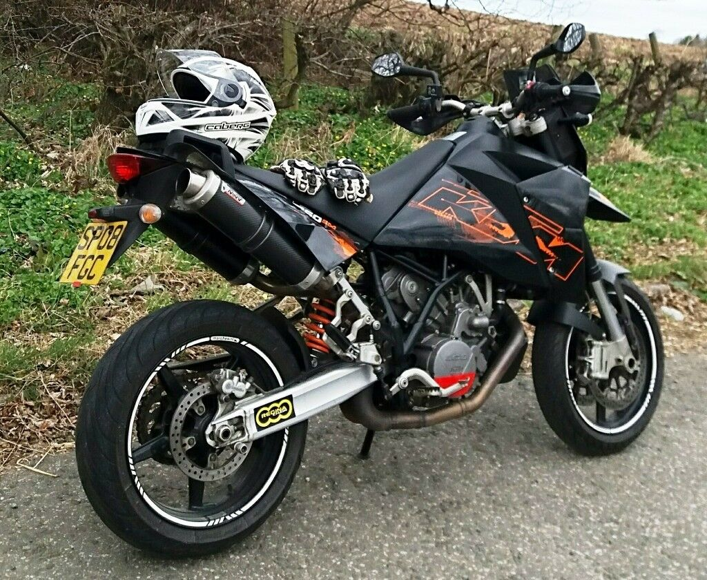 ktm 950 supermoto 2008 with low miles in fraserburgh. Black Bedroom Furniture Sets. Home Design Ideas