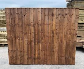 🦋 Brown Pressure Treated Vertical Board Wooden Garden Fence Panels