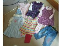 Girls clothes age 9-12mths.