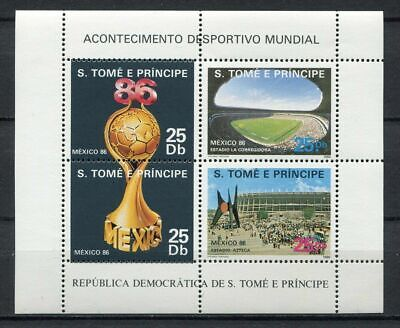 s6130) S.TOME E PRINCIPE 1986 MNH** WC Football'86- CM Calcio S/S