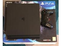 PS4 500gb Slim with controller and five games