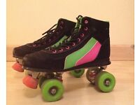Retro Roller Boots size 6 roller skates fitness