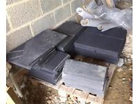 Fibre slate roof tiles