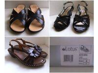 Ladies Lotus Mules / Sandals and Comfort Plus Sandals size 4 EU37