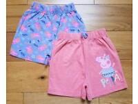 Like New Peppa Pig Shorts 18-24 Months