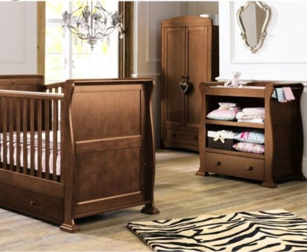 Reduced Baby Nursery Cotbed Furntiure Set