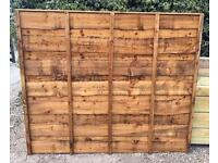 🌎New Brown Wayneylap Fence Panels > Excellent Quality < New > PressureTreated