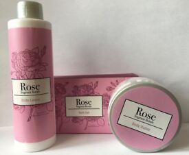 2 x 3 Piece Body Care Set (Rose & Lavender)