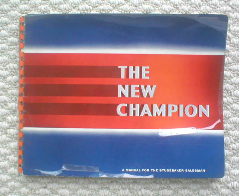 1939 Studebaker CHAMPION Dealer Only SALESMANs Brochure