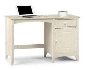Julian Bowen Cameo Desk, Stone White