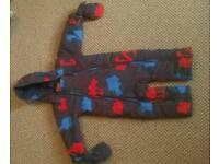 M&S boy snowsuit 12-18 months