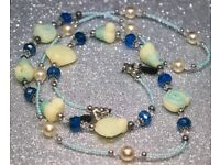 NEW gorgeous, beaded & pearls, spectacle's, glasses holder, chain - ideal gift.