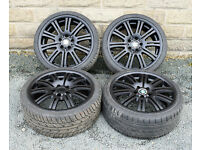 "19"" Alloy wheels tyres 5x120 1 3 series E36 E46 E87 Z3 Z4"