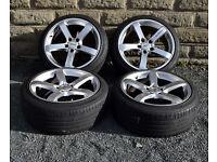 """18"""" alloy wheels tyres 5x112 VW Golf MK5 MK6 Seat Leon MK2 Audi A3 A4 TT Octavia alloys - wheels"""