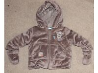 Disney Tigger Fleece Jacket Coat Gloves 3-6 Months