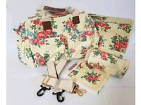New Changing Bag - Yellow Flower Print