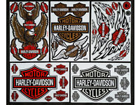 38x Harley Davidson Decals / Stickers, Motorcycles, Chopper, Motocross, Iron Cross, Decal, Pre-cut