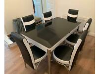 💯❤️ ELEGANT GLASS EXTENDABLE DINING TABLE SETS WITH CHAIRS OPTIONS🪑🏹