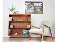 Vintage Danish Bookcase Sideboard Clausen and Son Teak Mid Century G Plan Era