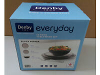 DENBY EVERYDAY BLACK PEPPER 12 PIECE DINNER SET BRAND NEW BOXED *REDUCED*