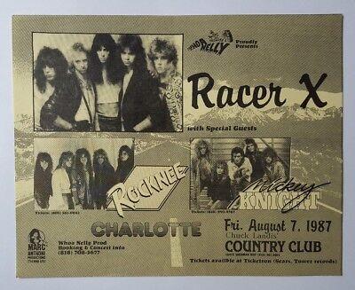 RACER X Original Concert Flyer Poster 1987 Judas Priest Mr. Big Paul Gilbert