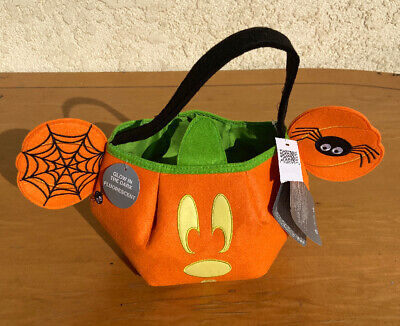Trick Or Treat Halloween Store (Disney Store MICKEY MOUSE Halloween Glow in the Dark Trick or Treat Bag Tote)