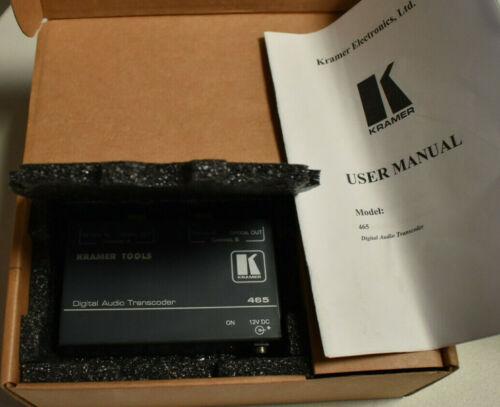 Kramer Digital Audio 465 Bi-directional Optical to AES/EBU Audio Converter